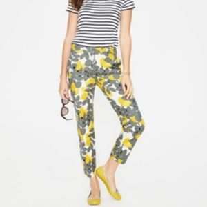 Boden | Lemon Print Capri Pants